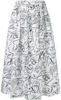 Kenzo all-over printed long skirt - women - Cotton - 36