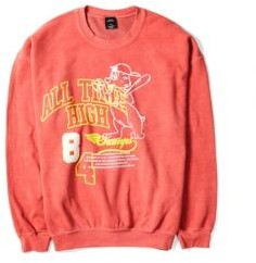 Urban Outfitters Red All Time Graphic Sweatshirt - Red S at