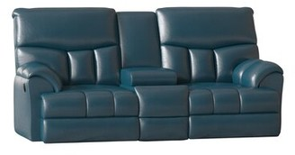 "Southern Motion Re-Fueler Reclining 82"" Pillow Top Arm Loveseat Body Fabric: Surreal Regatta, Reclining Type: Power Plus"