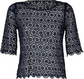 Collette Dinnigan Collette by Ink Unlined Cotton Lace-Crochet Top