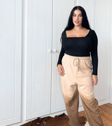 Thumbnail for your product : Collusion Plus Exclusive ombre trackies in brown