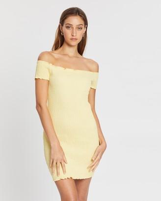 Supre Kristy Shirred Off-Shoulder Dress