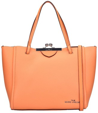 Marc Jacobs Tote In Orange Leather