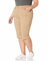 Lee Women's Plus Size Flex-to-Go Relaxed Fit Cargo Skimmer Capri Pant