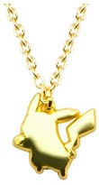 "Pokemon Pikachu Stainless Steel Gold IP Pendant with Chain (18"" + 2"" ext.)"