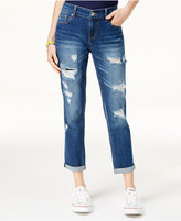 UNIONBAY Juniors' Margot Ripped Cropped Boyfriend Jeans