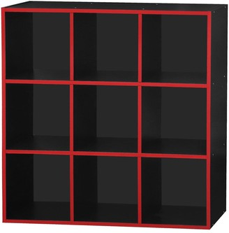 Lloyd Pascal Virtuoso 9 Cube Storage with Red Edging