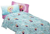 Disney Frozen Winter Hugs Flannel Sheet Set, Twin
