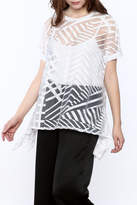 Katherine Barclay Asymmetrical Sheer Top