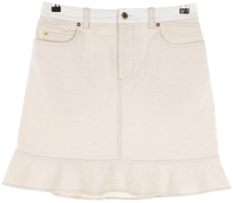Louis Vuitton White Cotton Skirts