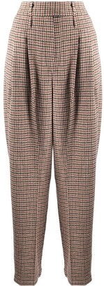 Jejia Houndstooth Print Trousers