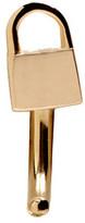 Lauren Klassen Gold Tiny Padlock Huggy Hoop Earring