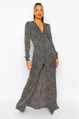 boohoo Tall Leopard Print Maxi Dress