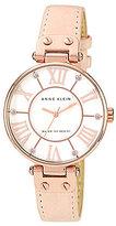 Anne Klein Light Pink Leather Strap Watch