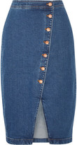 Madewell Stretch-denim Wrap Skirt - Mid denim