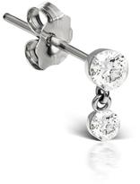 Maria Tash Invisible Set Diamond Dangle Stud Earring - White Gold