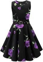 Black Butterfly Clothing Black Butterfly Kids 'Audrey' Vintage Infinity 50's Dress (, 3-4 YRS)