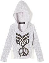 Freestyle Gray 'Peace' Hoodie - Girls