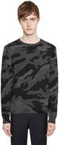 Valentino Camouflage Intarsia Cashmere Sweater