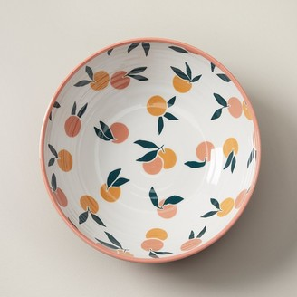 Indigo Oranges Melamine Serving Bowl