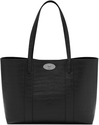 Mulberry Bayswater Tote Black Matte Croc