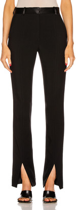 Victoria Beckham Front Split Tuxedo Trouser in Black | FWRD