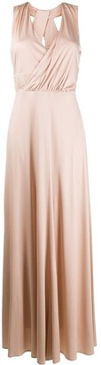 D-Exterior Drape Detail Dress