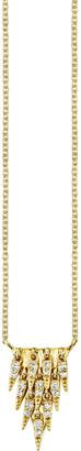 Sydney Evan 14k Cascade Fringe Pendant Necklace w/ Diamonds
