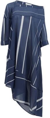 Palmer Harding Palmer//harding - Off-shoulder Striped Cotton Dress - Womens - Navy Stripe