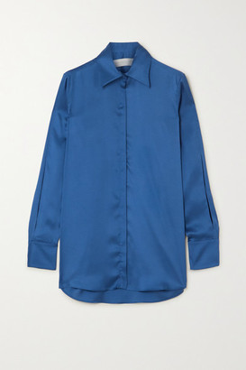Victoria Victoria Beckham Satin Shirt - Royal blue