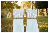"Kate Aspen Silver Shimmer"" Classic Mr. and Mrs. Chair Backers"