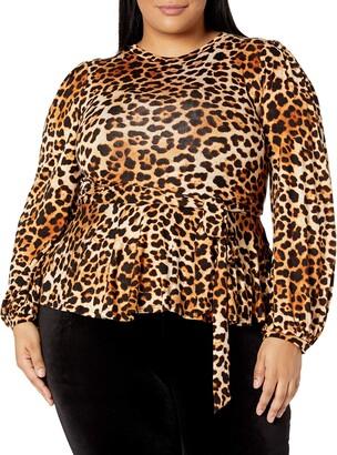 Forever 21 Women's Plus Size Leopard Print Top