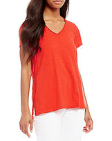 Eileen Fisher V-Neck Short Sleeve Top