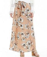 Blu Pepper Floral-Printed Wrap Maxi Skirt