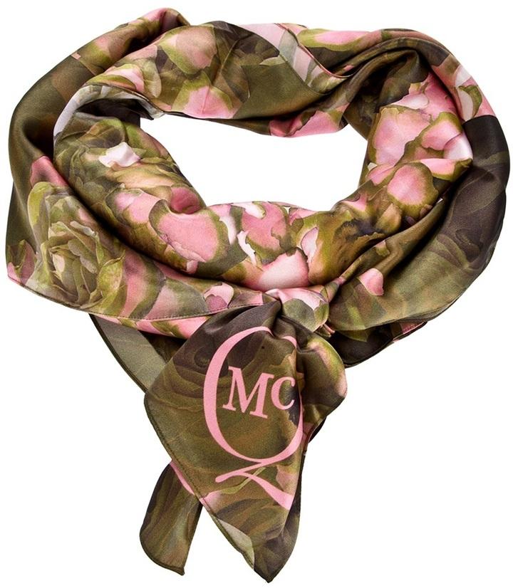 McQ branded floral print scarf