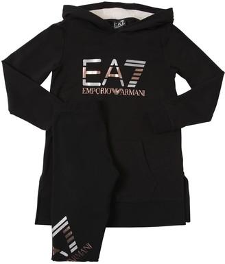 EA7 Emporio Armani Cotton Sweatshirt Dress & Sweatpants