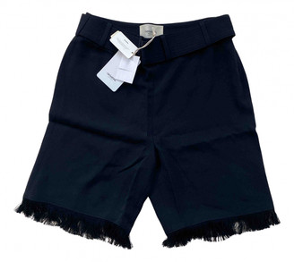 Nanushka Black Cloth Shorts