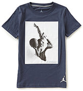 Jordan Little Boys 2T-7 Branded Tee Crew Neck Short-Sleeve Tee