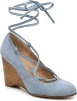 Adrienne Vittadini Women's Smily Wedge Pump -Light blue