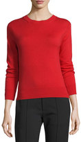 Marc Jacobs Crewneck Button-Back Sweater, Red