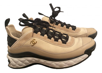 Chanel Beige Leather Trainers