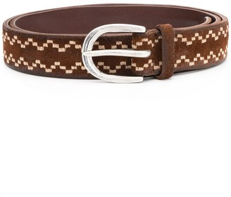 Orciani Embroidered Pattern Belt