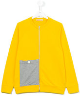 Marni contrast pocket sweatshirt - kids - Cotton - 14 yrs