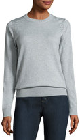 MICHAEL Michael Kors Crewneck Studded Sweater, Light Gray