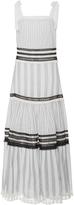 Jonathan Simkhai Mixed Voile Tie Layered Maxi Dress