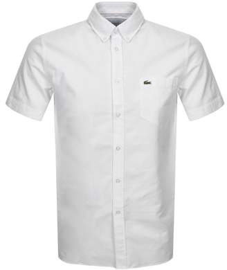 Lacoste Short Sleeved Oxford Shirt White