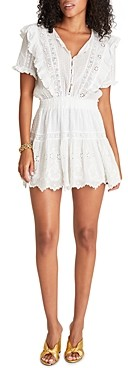 LoveShackFancy Sheldon Cotton Ruffled Eyelet Dress