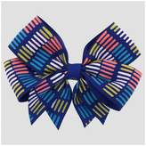 Cat & Jack Girls' Colored Lines Bow Hair Clip Cat & Jack Blue