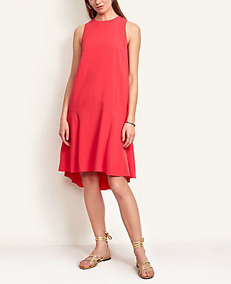 Ann Taylor Petite Flounce Shift Dress