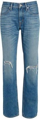 SLVRLAKE Tyler Distressed Straight-Leg Jeans